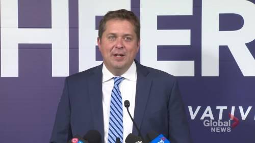 Former Conservative leader attacks Trudeau in election speech | Watch News Videos Online