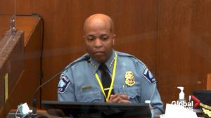 Derek Chauvin trial: Minneapolis police chief says department will 'forever' be judged by this use of force (00:52)