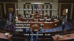 Trump impeachment: 10 Republicans join Democrats in voting to charge Trump (00:43)