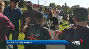 Anti-racism group angered by Premier Kenney's response to Red Deer violence (01:34)