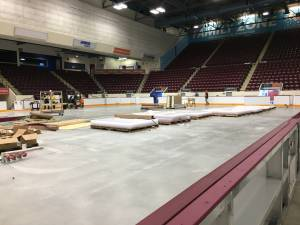 New boards being installed at Peterborough Memorial Centre