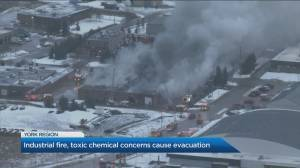 Large industrial fire breaks out in Schomberg
