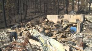 'Everything's gone': Westside Road evacuees return to properties (02:31)
