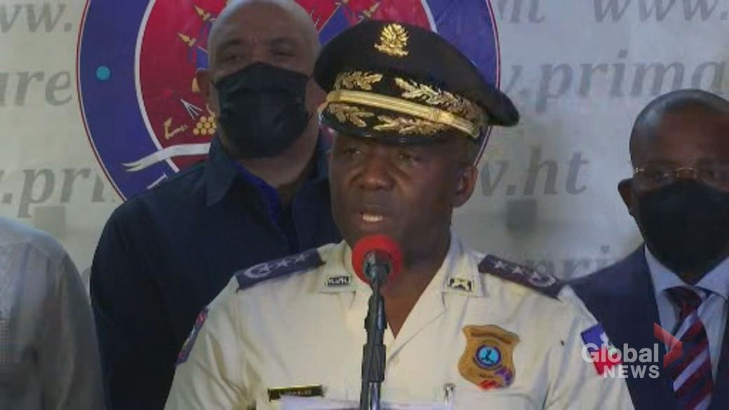 Click to play video: 'Man arrested as alleged leader in assassination of Haitian president'