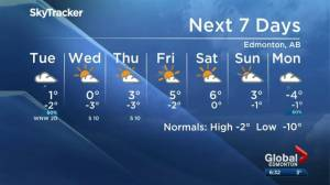 Edmonton Weather Forecast: Nov. 18
