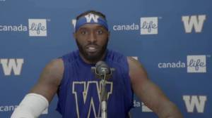 RAW: Blue Bombers Willie Jefferson Post Game – Sept. 5 (04:59)