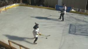 Cold weather great for rink builders (02:03)