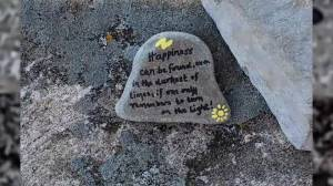 Messages of hope found on rocks along Kingston's waterfront