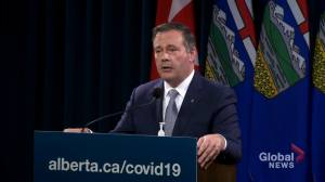 COVID-19 high-end projections could see Alberta reach ICU max capacity by end of October: Kenney (00:55)