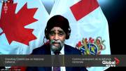 Play video: Defence minister Sajjan tells committee he was 'shocked' by Vance allegations