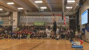 Sensational slam dunk stuns crowd at Edmonton basketball tournament