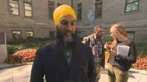 NDP leader Jagmeet Singh meets with Quebec City Mayor