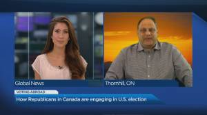 U.S. election: Republicans in Canada look forward to election night (03:50)
