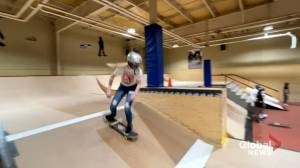 Female skateboarders inspiring young athletes (02:02)