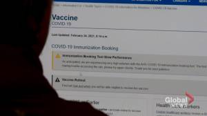 COVID-19: Demand overwhelms Alberta vaccine booking system (01:56)