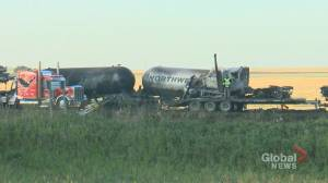 Three confirmed dead in fiery Alberta crash