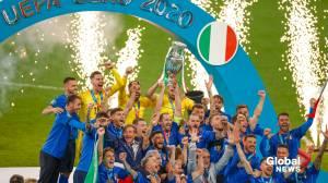 Italy defeats England in UEFA Euro 2020 final (02:57)