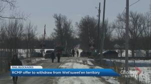 RCMP offer to withdraw from the Wet'suwet'en territory