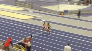 University of Michigan runner stages remarkable comeback to win relay race (00:59)