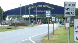 Police activity outside Naval Air Station Pensacola following shooting