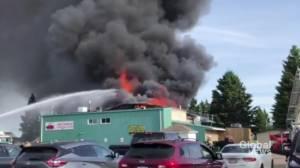 Fire consumes Westridge Curling Club in Stony Plain, Alta (02:17)