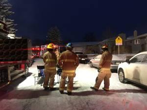Calgary crews extinguish fire on Dovercrest Way (00:56)