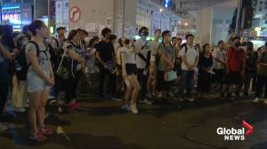 Songs and skirmishes in Hong Kong ahead of mid-Autumn festival (01:21)