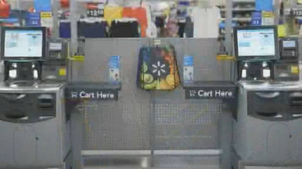 Click to play video: 'Walmart to test stores with no cashiers and all self-checkouts'