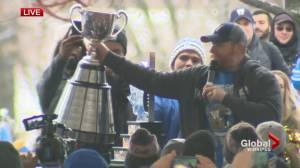 'That's your Cup Winnipeg': Mike O'Shea celebrates at Grey Cup parade