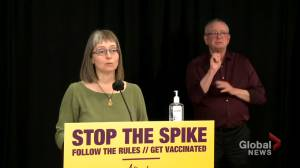 Over half of eligible Albertans have received first dose of COVID-19 vaccine (01:21)