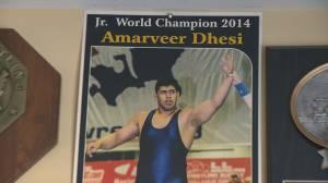 Surrey wrestler Amar Dhesi making family proud (02:41)