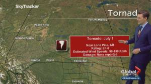 Environment Canada confirms tornado touched down in Alberta on Canada Day