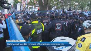 Community leaders call for end to forcible removal of homeless encampments (04:27)