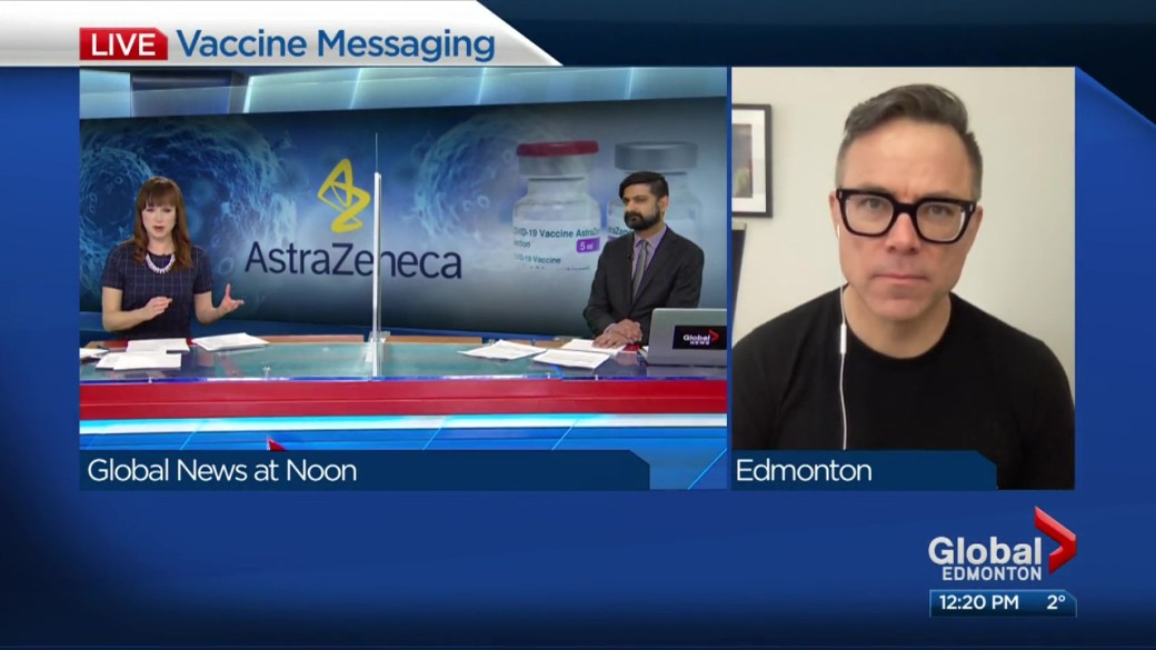 Click to play video: ''Millions of data points' should override AstraZeneca fears: health expert Tim Caulfield'