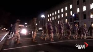 U.S. Capitol riot: Thousands of National Guard troops lining streets in D.C. in lead-up to Biden inauguration (01:42)