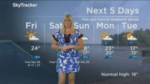 Global News Morning weather forecast: Friday September 20, 2019