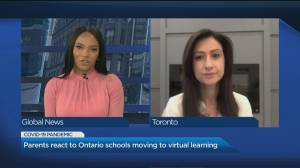 Toronto parent reacts to Ontario schools moving back to virtual learning (05:04)