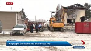 2 people believed to be dead after duplex fire in Evansburg (02:20)