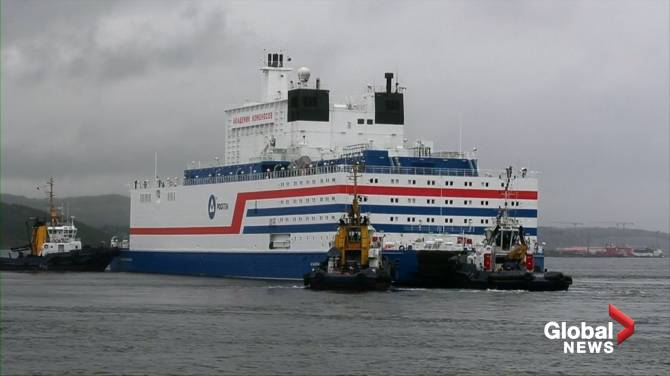 Russia's floating nuclear power plant arrives at port after 5,000 kilometre trip
