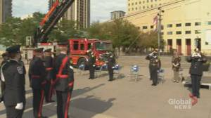 Mississauga holds observance ceremony to mark 20th anniversary of 9/11 (02:28)