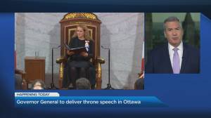 Governor General to deliver throne speech in Ottawa
