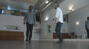 Michael Newman learns some moves with renowned tap dance artist Andrew Nemr