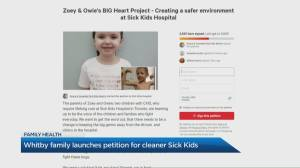 The petition to create a cleaner hospital environment for kids