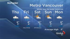 B.C. evening weather forecast: Nov. 11 (01:57)