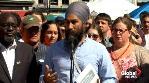 NDP Leader Jagmeet Singh announces plan to support local farmers