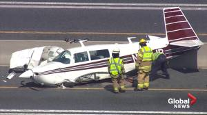 Small plane crashes into vehicle on Maryland's Route 50