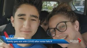 Vaccinated Ontario mother, son say they contracted COVID-19 from basement tenant (02:11)