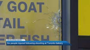 6 people seriously injured after overnight drive-by shooting at Toronto bakery