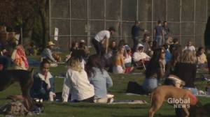 As weather gets warmer, officials warn against large gatherings (02:30)