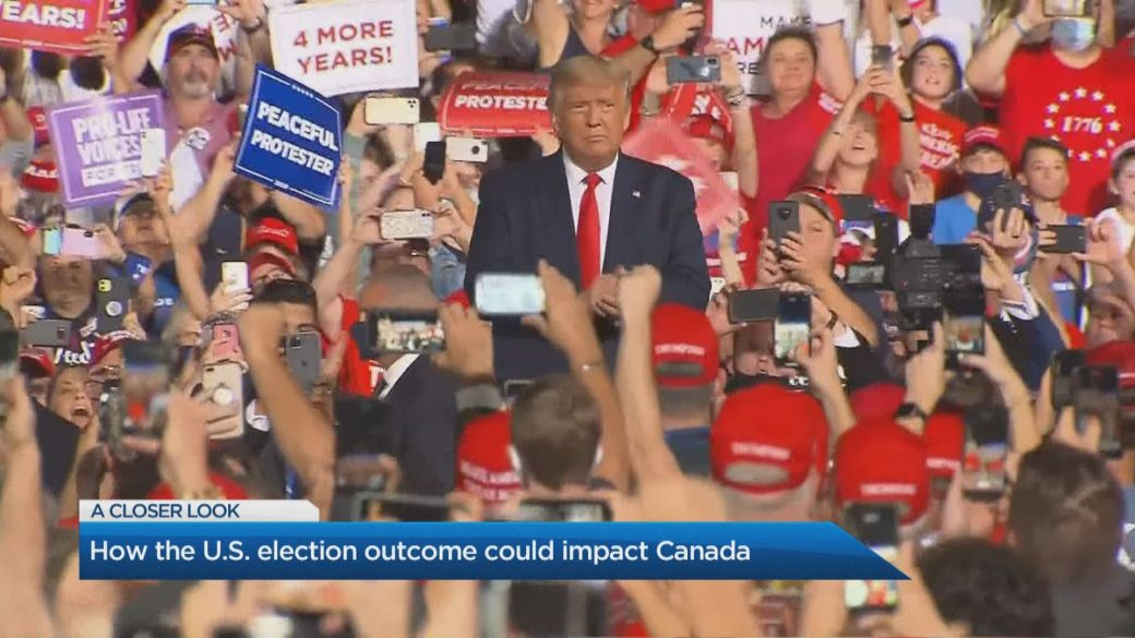 Click to play video 'Trump vs Biden: How the U.S. election outcome could impact Canada'
